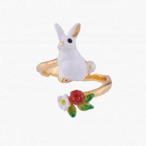 LES NEREIDES Bunny Adjustable Ring NEW